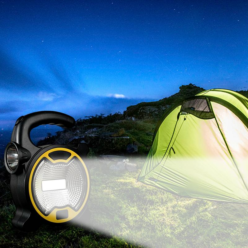 Camping Light LED Camping Light Mini Portable Lantern With Flashlight COB Lawn Light