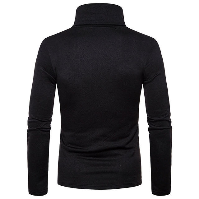 Slim Fit Knitted Pullover Turtleneck Casual Sweater 5