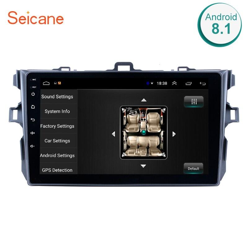 Seicane 9 Android 8,1 Автомобильный GPS Мультимедиа для 2006 2007 2008 2009 2010 2011 2012 Toyota Corolla Navi плеер Поддержка Bluetooth