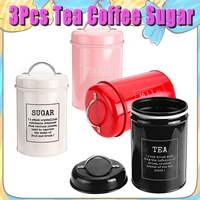 3Pcs/set Stainless Steel Sealed Jar Tea Storage Tins Caddy Canister Box Sugar Candy Coffee Food Canister Snack Tank