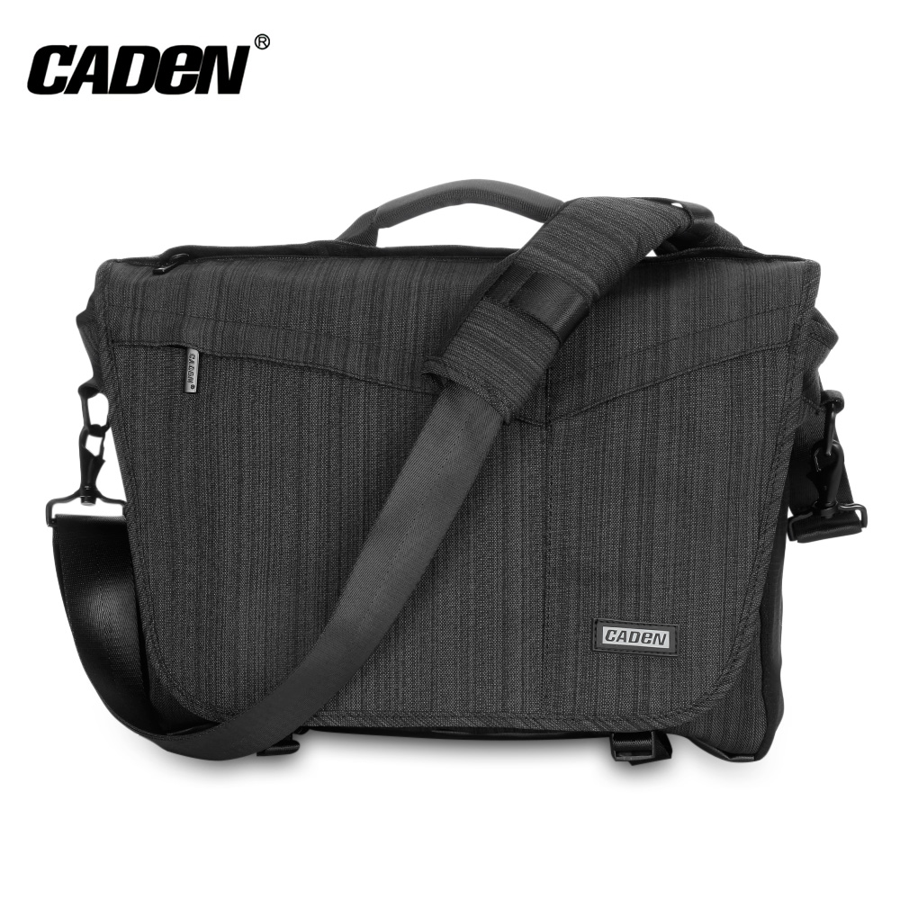 Caden K11 - S Nylon Camera Messenger Bag With Removable Insert For SLR / DSLR Lenses LaptopCaden K11 - S Nylon Camera Messenger Bag With Removable Insert For SLR / DSLR Lenses Laptop