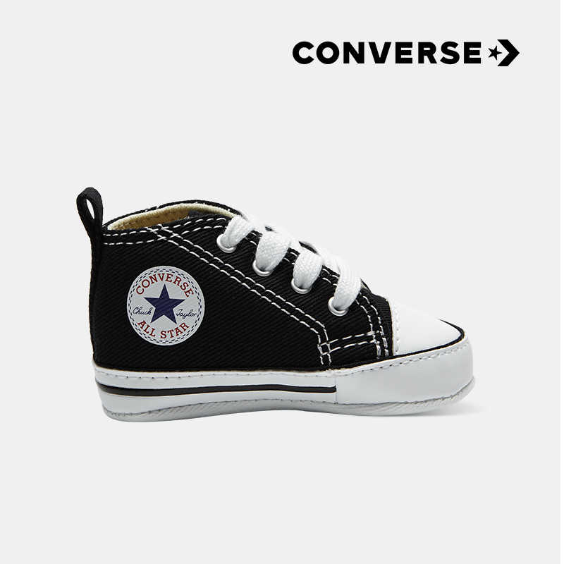 22cabf8348 CONVERSE Children's Shoes Classic Series Baby Comfortable Black Canvas  Newborn Light Shoes #8J231
