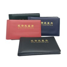 Coin Photo album 20 Pages  DIY Album Holder Collection Book Pockets Storage 40 Banknotes Can Be Stored