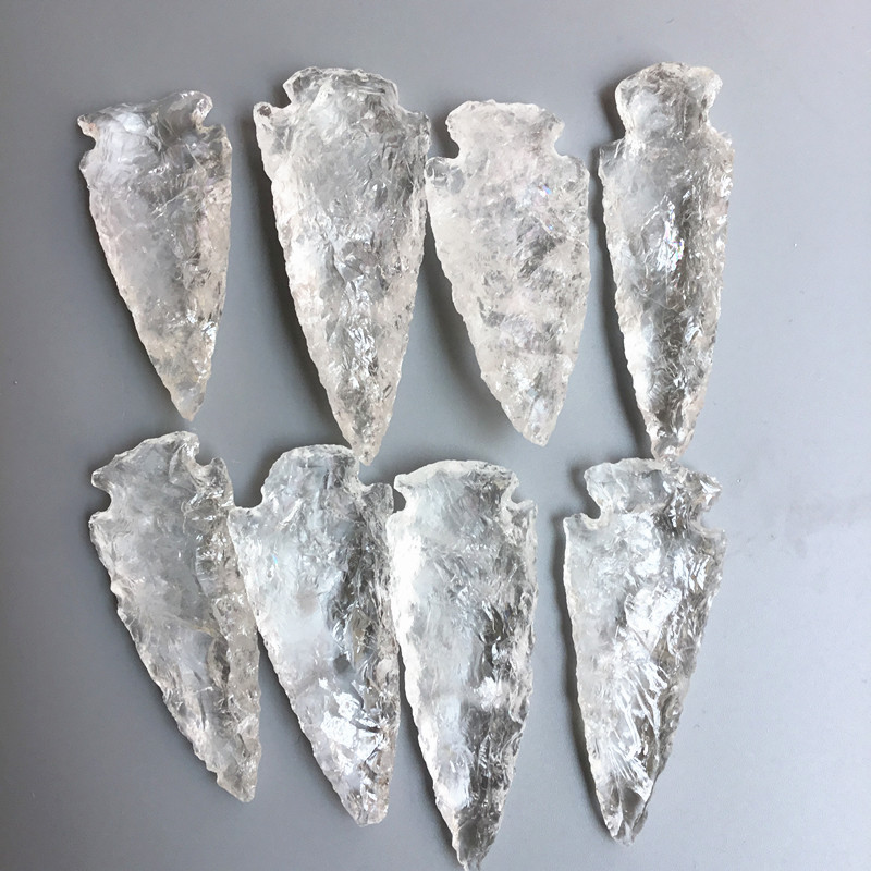 Crystal sword white crystal carving sword white crystal carving small play pieces home small ornaments in Stones from Home Garden