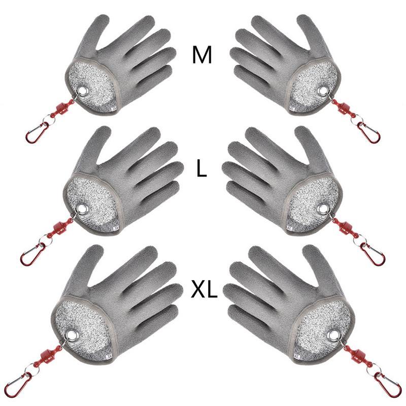1 unid pescado captura guantes Anti-slip PE impermeable de Nylon de pesca guantes Anti-corte morder guantes herramientas de pesca