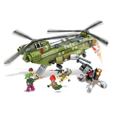 hot LegoINGlys military WW2 Armed transport Helicopter Landing war MOC Building Blocks model mini army figures bricks toys gift