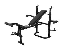 Vidaxl Indoor Multifunctionele Fitnessapparatuur Sit Up Bench Verstelbare Crunch Board Barbell Rek Staal Gewichtheffen Training