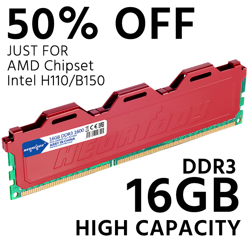 DDR3 16 gb 1600 mhz PC RAM de Mémoire De Bureau compatible 4 gb 8 gb 1333 mhz 1066 mhz