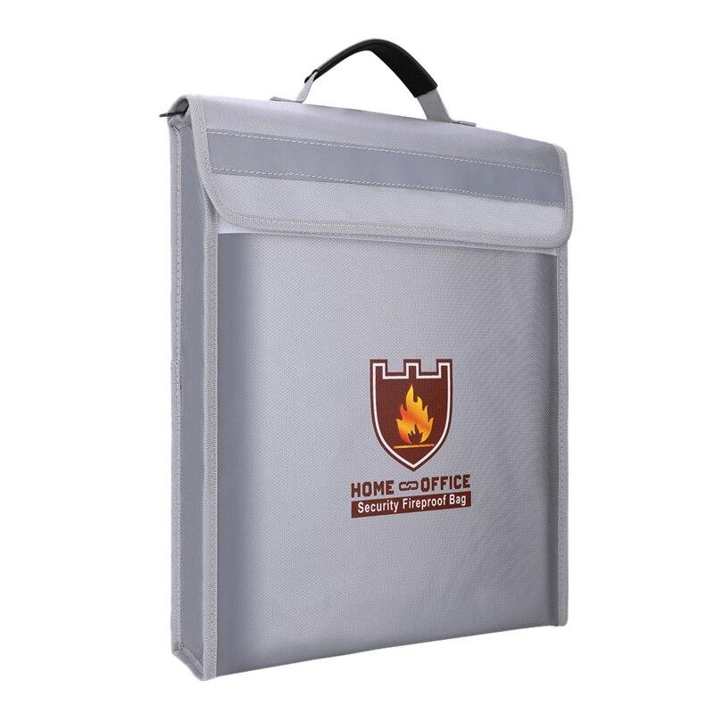 Fireproof Document Bag Holder Pouch Home Office Safe Bag Fire Water Resistant File Folder Safe Storage Bag