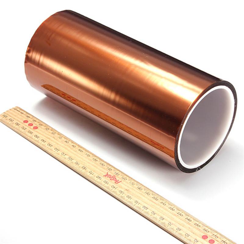 200mm X 100ft High Temperature Heat Resistant Polyimide Tape Insulation Polyimide Film Adhesive Tape