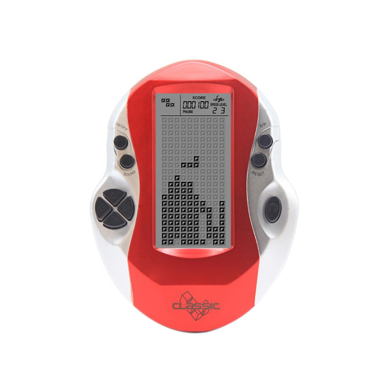 Retro clásico Tetris Juegos de mano jugadores de la infancia juegos electrónicos Juguetes Led consola de juegos con pantalla grande Juego de cartas de póquer de plástico resistente al agua de Texas Holdem