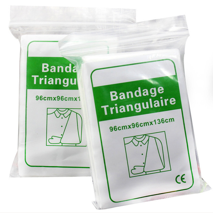 6 Packs/Lot Non-woven Triangular Plaster Bandage Medical Supply Wound Dressing Fracture Fixation Bandage Wound Care