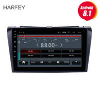 Harfey GPS Car Multimedia Player head unit 9inch Android 8.1 Radio 2Din For 2004 2005 2006 2009 Mazda 3 Stereo support DAB+ TPMS