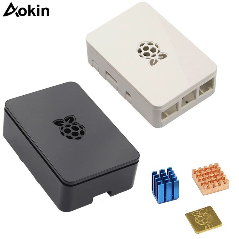 Aokin For Raspberry Pi Case With Aluminum Heatsink Protective Case Cover Box For Raspberry Pi 3 Model B + Plus,pi 3 / 2 Pi 4 4B