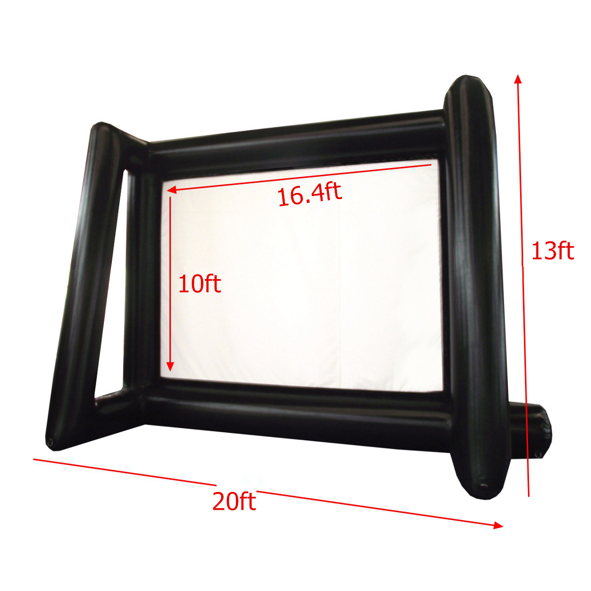6x4 M gonflable extérieur projecteur film Projection écran maison partie arrière cinéma ventilateur ventilateur - 3