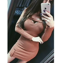 Hirigin Brand New Vestidos 2019 Spring Sexy Dress Bodycon Slim Dresses Long Sleeve Womens Ladies Party Mini Clubwear