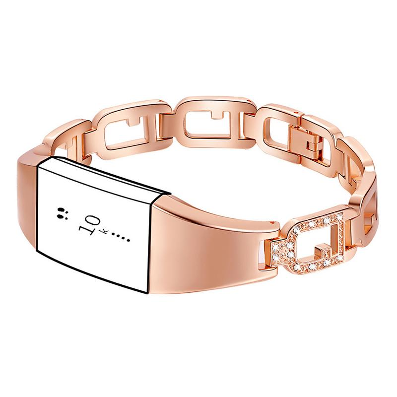 Image 2 - Zinc Alloy Watchband Smart Watch Bracelet Durable Scratch Resistant Adjustable Wristband Bracelet With Diamond Large Ring Strap-in Smart Watches from Consumer Electronics
