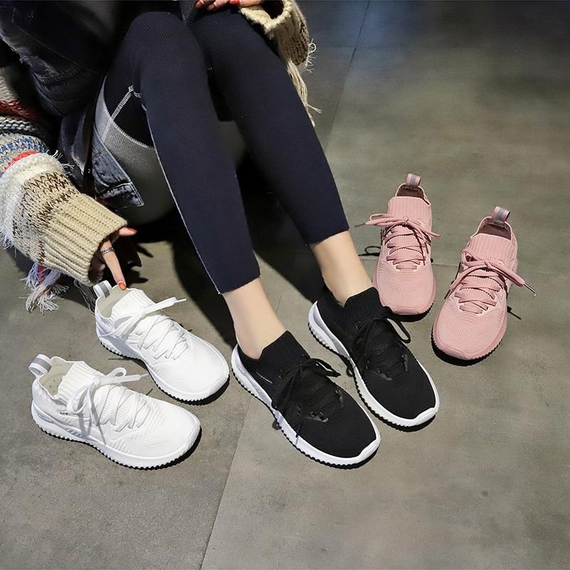 Audorci Taille Lacets Casual pink White black Femme Appartements 2019 Printemps Mode Chaussures Air Féminin 35 À Loisirs Femmes En 40 Léger Plein aWxarP1wn