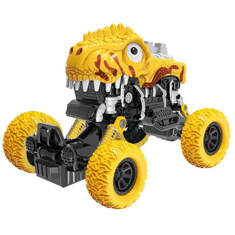 Dinosaurio todoterreno coche con retroceso con tracción en las cuatro ruedas dinosaurio modelo coche Juguetes DIY dinosaurio juguete vehículos regalo para niños Para Mitsubishi Outlander 2013 2015 2016 2017 2018 Exterior modificado especial 3D 4WD letras pegatinas de cuatro ruedas