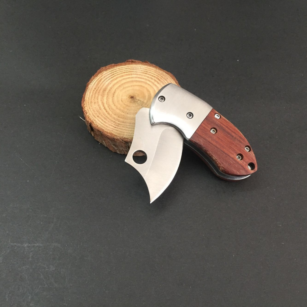 Mini Fold Knife Blades Pocket High Hardness Self Protection Camp Saber Originality Wooden Handle Outdoors Equipment Tool Hot in Knives from Tools