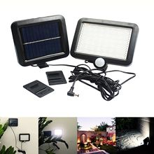 WSFS Hot 56LED Outdoor Solar Power Motion Sensor Light Garden Security Lamp Waterproof цена