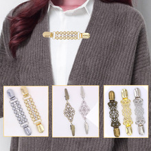 1PC Sweater Crystal Duck Clip Vintage Cardigan For Women Girls Shawl Blouse Collar Shirt Retro Brooch Valentines Gift