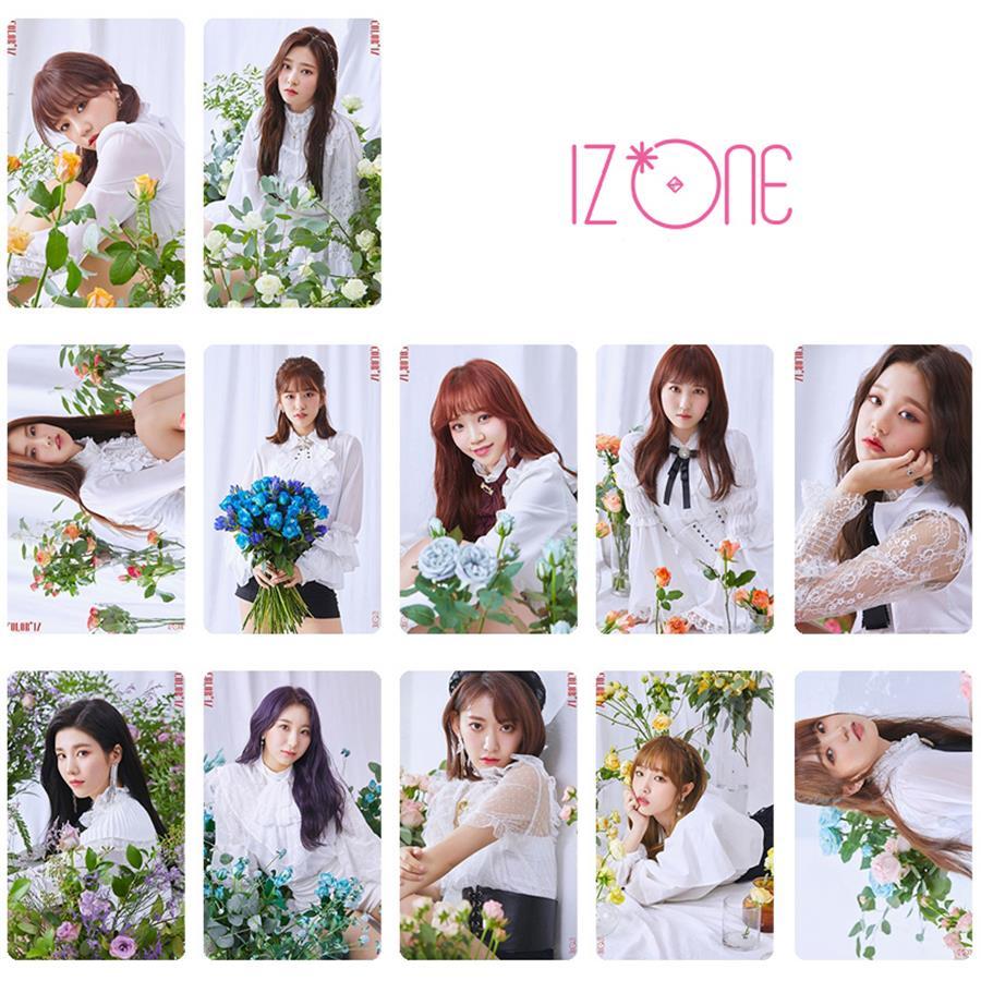 US $3 89  Kpop IZONE Heart*IZ Photo Stikcy Card 2rd Mini Album Photocard  Sticker Yuri Jo Crystal Card Sticker 10pcs/set-in Jewelry Findings &