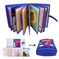 3D Soft Cloth Books Infant Early Educational Rattles Stroller Toy For Newborn Baby Children Toys Family Activity Book