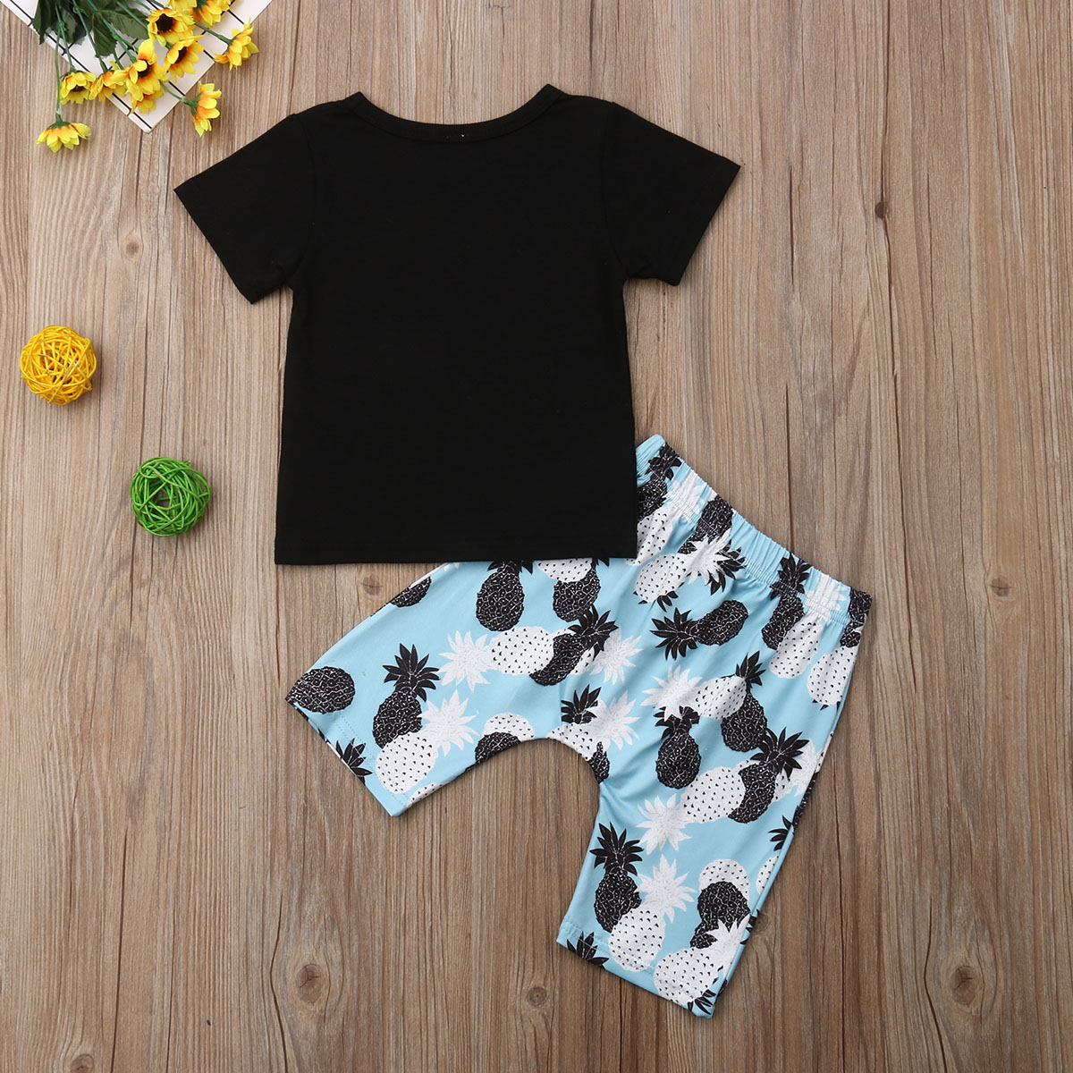 2pcs Toddler Infant Kids Baby Boys Summer Clothes T-shirt Tops+Pants Outfits Set