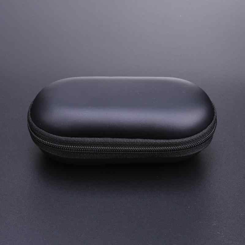 Nieuwe Draagbare Elliptische EVA Case Mobiel Headset Bluetooth Oortelefoon Kabels Hoofdtelefoon Mp3 Mp4 Toetsen Opbergdoos (100*60 * 40mm)