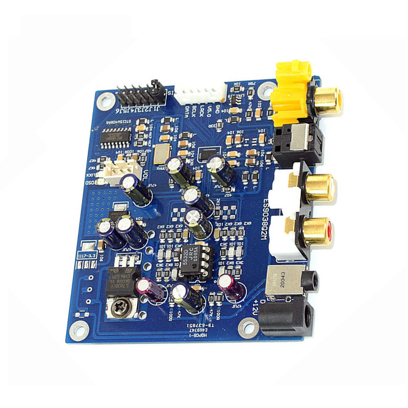 Operational Amplifier Chips Es9038 Q2m I2s Dsd Optical Coaxial Input Decoder Usb Dac Headphone Output Hifi Audio Amplifier Board Module