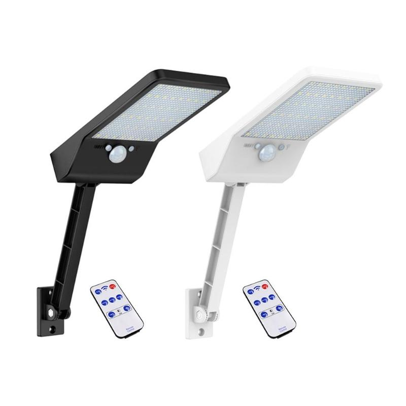 Adjustable 48 LED Remote Control Solar Light Color With Controller 3 Modes Waterproof Lamp Lights For Outdoor Garden Wall Street