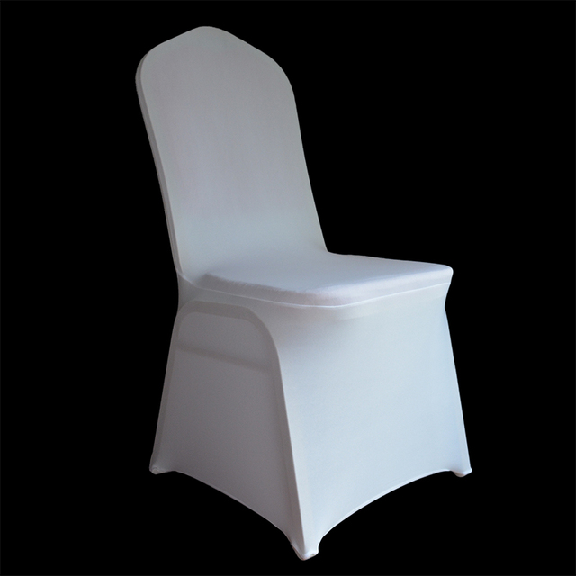 universal banquet chair covers buy in bulk 50pcs 100pcs wedding white stretch polyester spandex cover for weddings restaurant seat