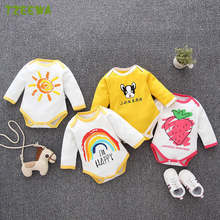 2019 Newborn Bodysuit Baby Girls Clothes Cotton Body Baby Long Sleeve Underwear Infant Boys Girls Clothes Roupa Menina(China)