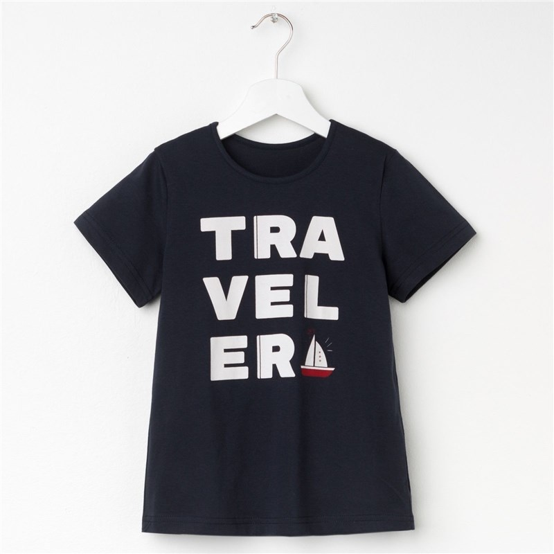 T Shirt for Boy's Travel P. 32 (110-116 cm), blue dress 92 116 cm