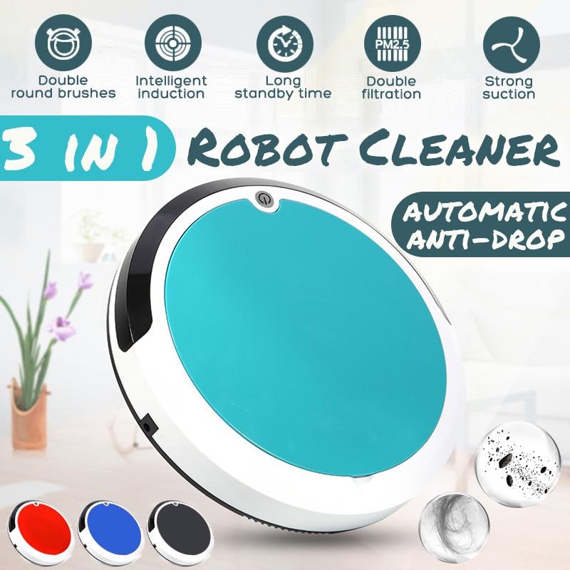 4 dans 1 Dirt Poussière Hair Automatique Cleaner Rechargeable Auto Nettoyage Robot Intelligent Robot de Balayage Pour La Maison Électrique Aspirateurs