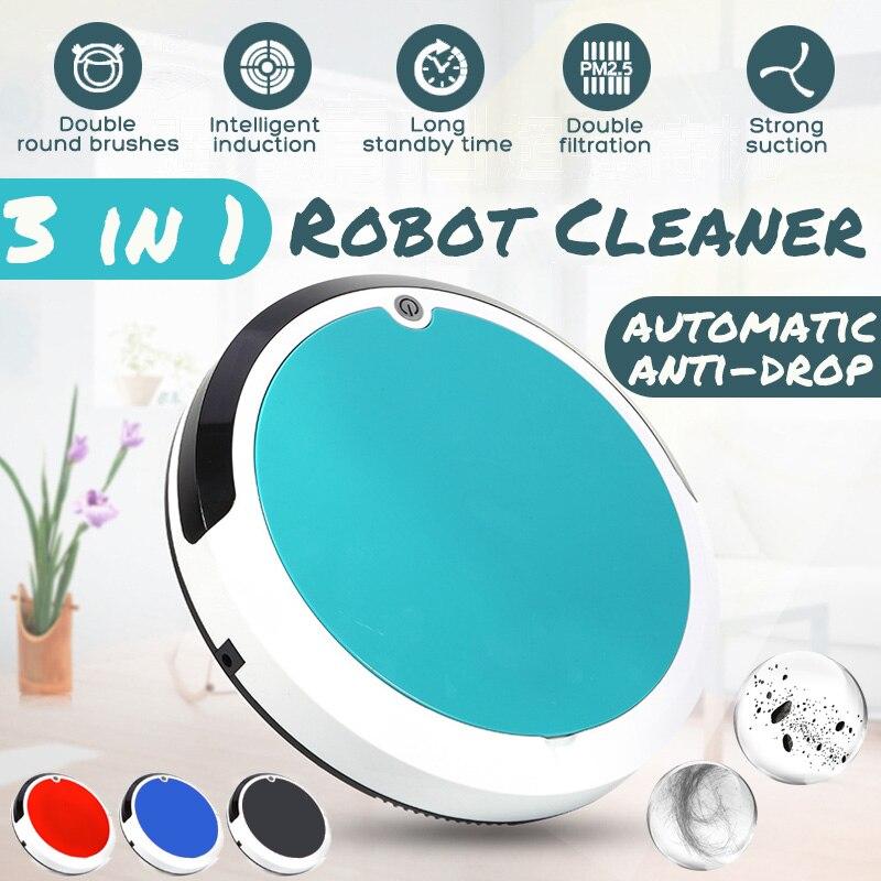 4 dans 1 Dirt Poussière Hair Automatique Cleaner Rechargeable Auto robot de nettoyage Intelligente robot de balayage Pour La Maison Électrique aspirateurs