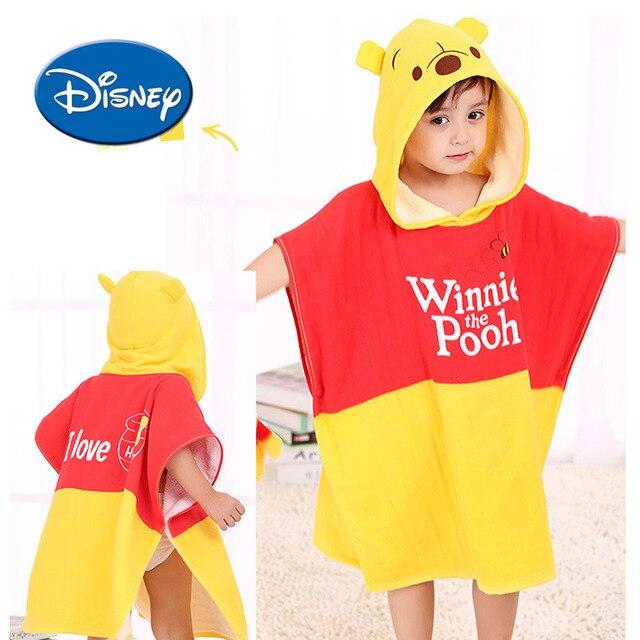 0fe7dc4594 Disney Winnie The Pooh 100% Cotton Hooded Bath Towel Kids Cartoon Girls Robe  Boy Beach