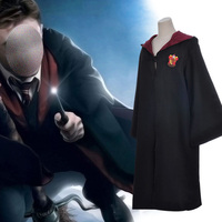 Magic Cloak Cosplay Costume Robe Cloak Tie Scarf Ravenclaw Gryffindor Hufflepuff Slytherin Adult Kids Potter Gryffindor Robe