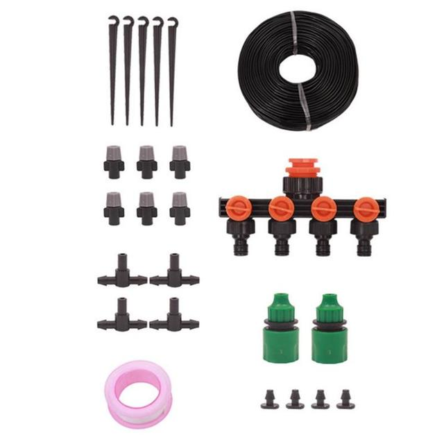 30m Adjustable Drips Irrigation Kit Plants Garden Automatic Watering System Connector Sprinkler Hose Kits Garden Tools