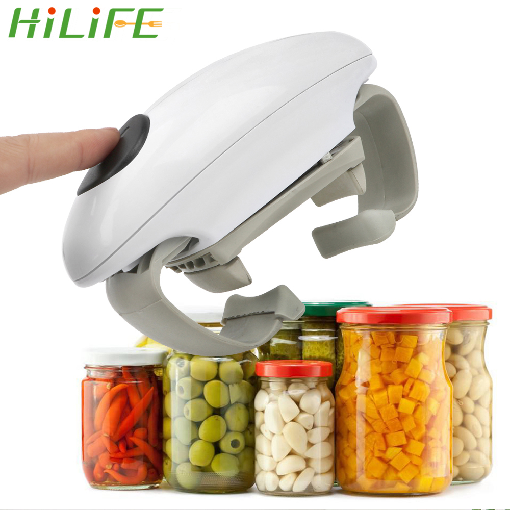 HILIFE Jar Opener Binaural Electric Can Opener Creative Electric Bottle Opener Automatic Tin Opener Glass Canned Kitchen Tools
