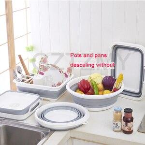 Image 3 - Có thể gập lại Món Ăn Kệ Gầm Bếp Chứa Đồ Giá Đỡ đa năng Dao Kéo Hộp Lưu Trữ Di Động Ốp Món Ăn Điện Đứng Cốc
