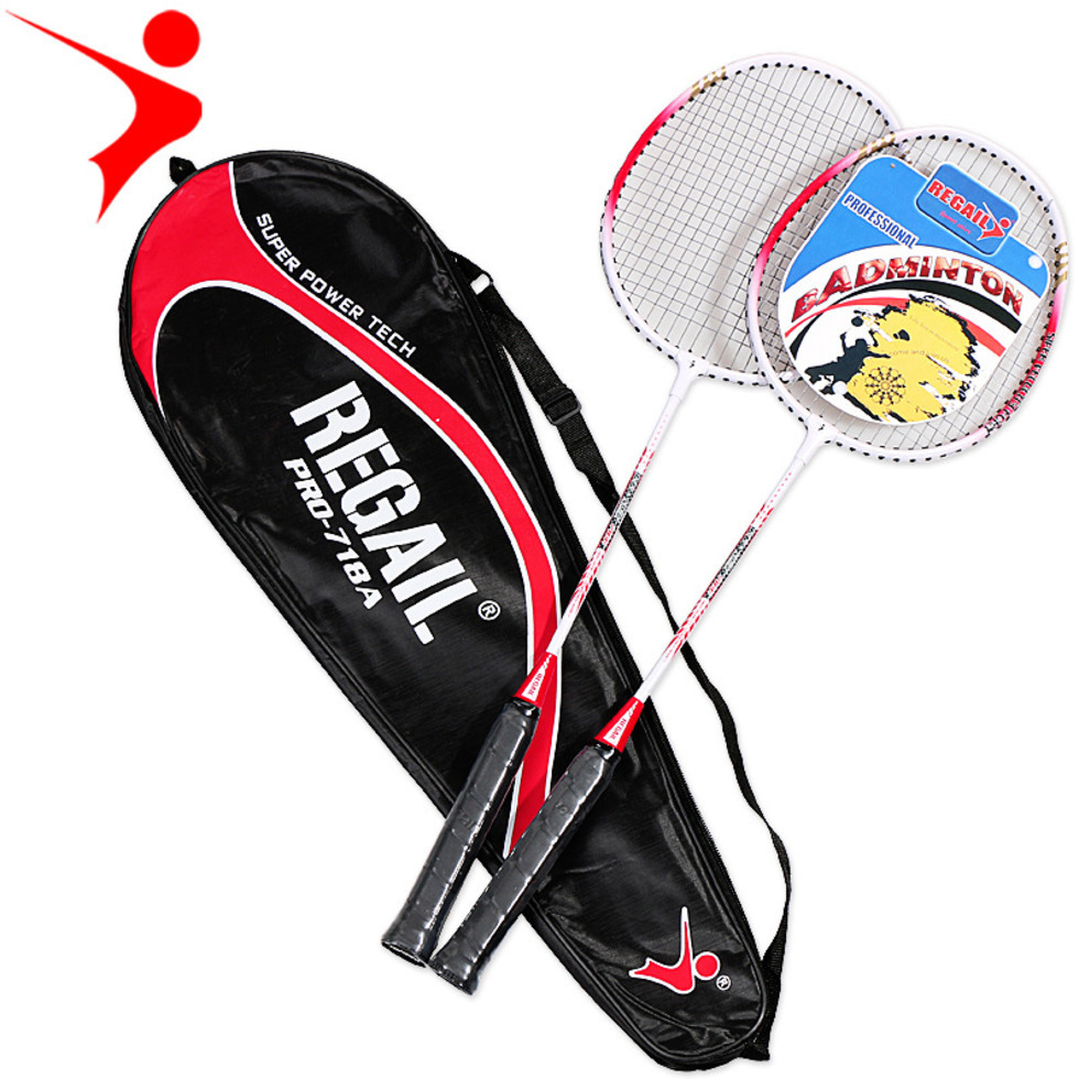 718A Aluminum Alloy Badminton Racket Two Packs Training Badminton Racket Jewelry Series Two-color Shoot