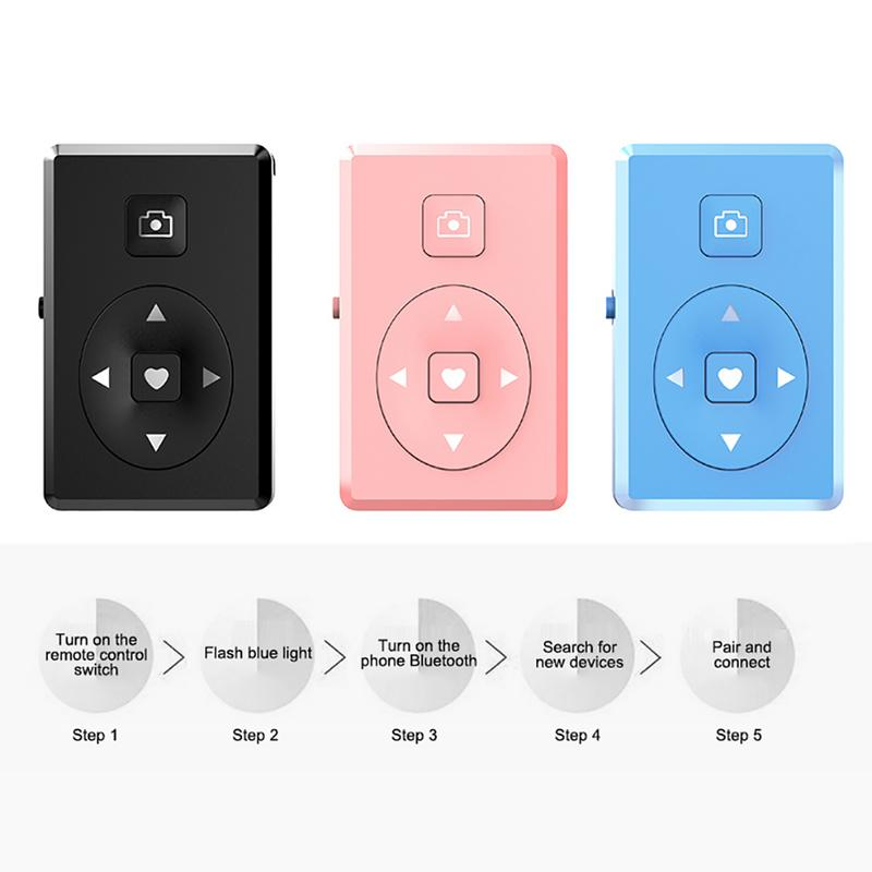 Image 2 - Portable Remote Control Wireless Bluetooth Self Timer Video Page Turn Shutter Multifunctional Lightweight Mni Devices For Phones-in Remote Controls from Consumer Electronics