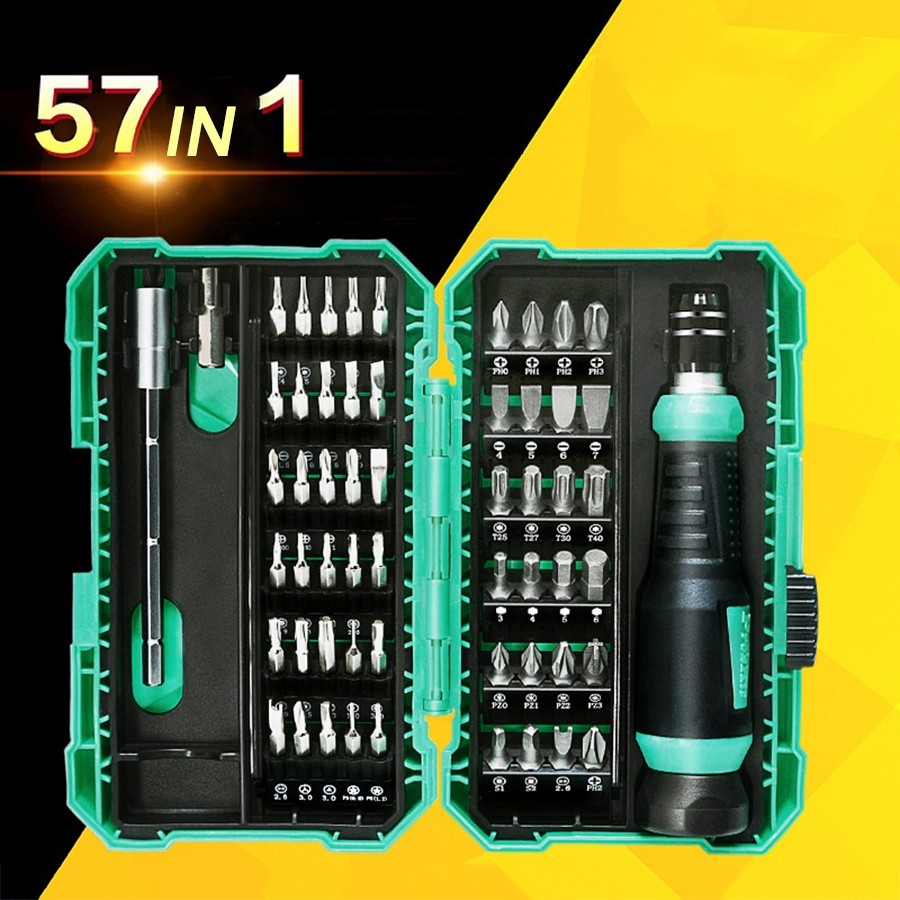 57 In 1 Precision Multifunction Screwdriver Set With Extension Rod Phillips Bits For Watch Glasses PC Screw Driver Repair Tools57 In 1 Precision Multifunction Screwdriver Set With Extension Rod Phillips Bits For Watch Glasses PC Screw Driver Repair Tools