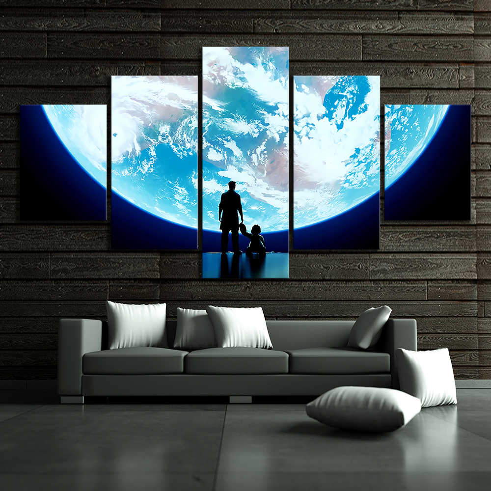 5 Piece Super Moon Pictures Overwatch Video Game Poster Wall Painting for Living Room Wall Decor
