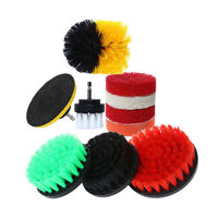 10pcs Drill Brush Attachment Set Scrub Pads Power Scrubber Kitchen Cleaning Kit