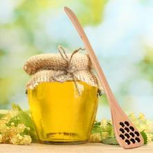цена High Quality Practical Long Handle Wood Honey Spoon Mixing Stick Dipper For Honey Jar Coffee Milk Tea Stirring Bar Kitchen Tools онлайн в 2017 году