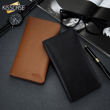KISSCASE Leather Universal Phone Wallet Case For iPhone X XS 8 7 6 6s Plus 5s 5 SE Business Case For Samsung S8 S7 S6 S5 Edge цена