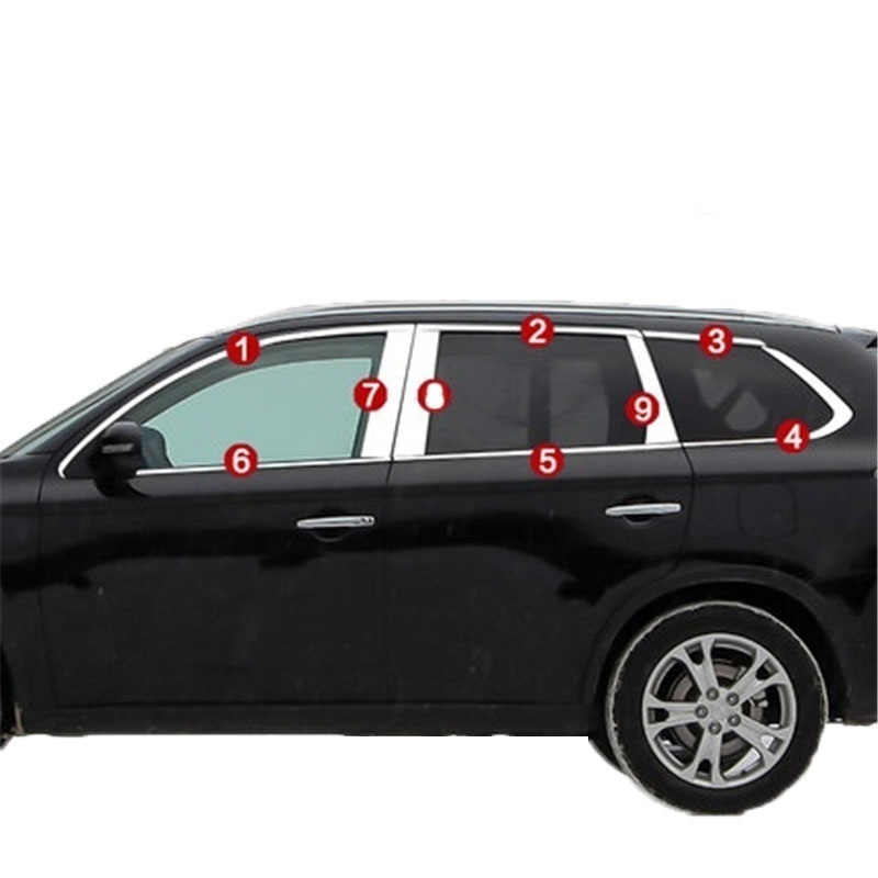 Window Air conditioner automobile decorative car styling bright sequins accessory protecter 14 FOR Mitsubishi Outlander